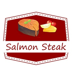 Salmon Steak vector image