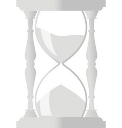 sand hourglass vector image vector image