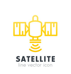 Satellite icon in line style over white vector