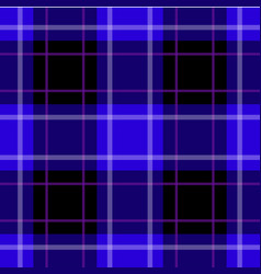 seamless blue black tartan white purple stripes vector image vector image