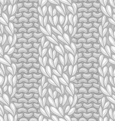 Seamless four-stitch front cable stitch vector