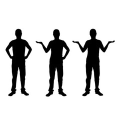 set of people presenting vector image