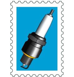 Sparking plug stamp vector