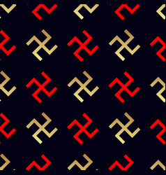 Swastika seamless pattern rotating cross vector