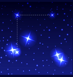 the constellation coma berenices in the night vector image vector image