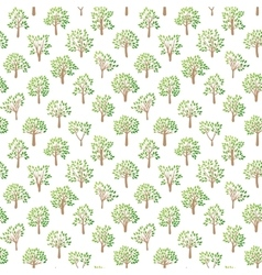 Tree seamless pattern vector