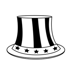 uncle sam top hat with flag united states usa vector image vector image