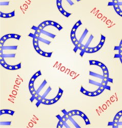 Seamless texture money-euro european union vector