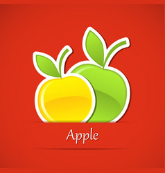 Food label apple vector