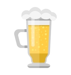 Beer cup glass vector
