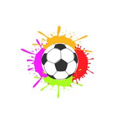 art soccer ball vector image
