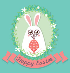 Happy easter rabbit happy easter backgrounds vector