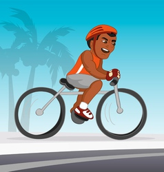 Bicyclist black riding vector