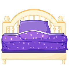 Isolated bed vector image