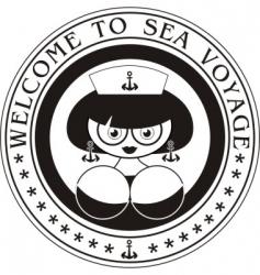 marine woman vector image