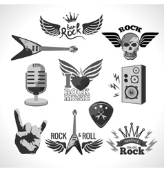 Rock music set vector
