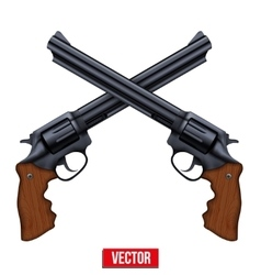 Cross of revolvers vector