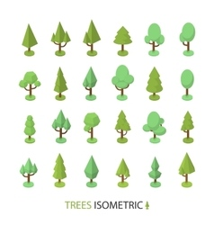 Isometric color tree set to create a vector