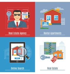 Real estate flat concepts vector