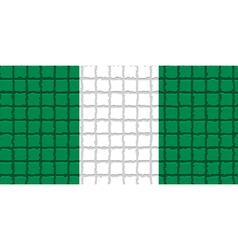 The mosaic flag of Nigeria vector image