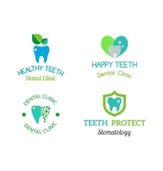 Dentist symbols set vector