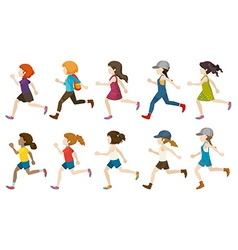 A group of faceless kids vector