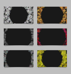 abstract card background template set with vector image