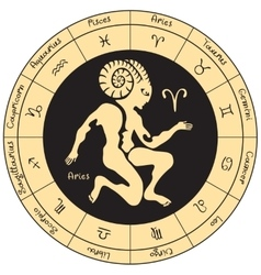 Aries with the signs of the zodiac vector