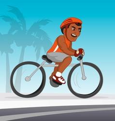 bicyclist black riding vector image