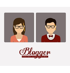 Blogger design vector
