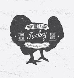 Butcher Shop Logo template retro style Vintage vector image vector image