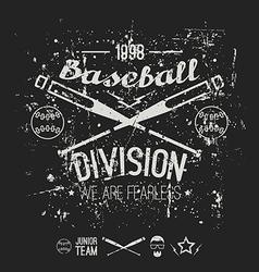 College baseball division emblem vector image vector image