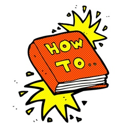 Comic cartoon how to book vector