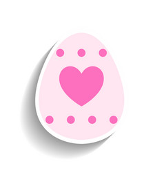 Easter egg colored flat icon for holiday isolated vector