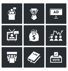 Elections icons vector