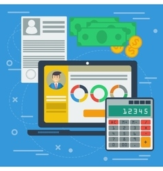 Financial balance concept vector image