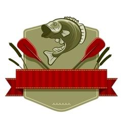 Fishing Emblem vector image vector image