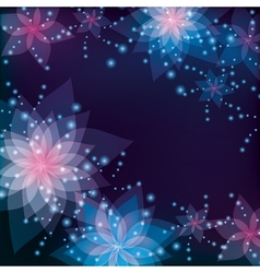 Floral abstract background greeting or invitation vector image vector image