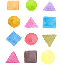 Geometric shape icons vector