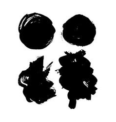 Grunge hand drawn brush strokes vector