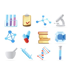 Icons for chemistry vector image vector image