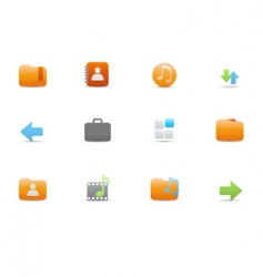 icons for common computer functions vector image