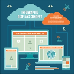 Infographic Displays Concept vector image vector image