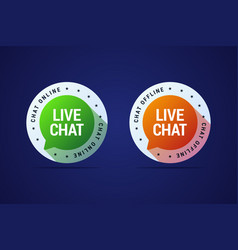 Live chat button for websites and application for vector