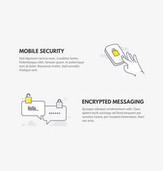 mobile security and encrypted messaging cyber vector image vector image