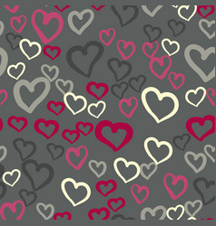 pink hearts seamless tile valentines day vector image vector image