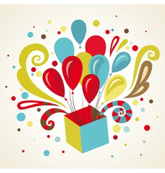present card vector image