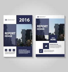 Purple square annual report leaflet brochure flyer vector