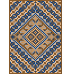 Rug in shades of brown vector