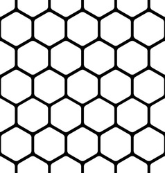 Seamless pattern consists of a honeycomb vector